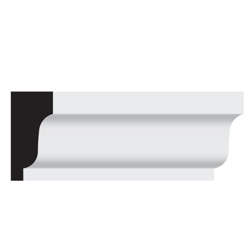 Nucasa UL406P-8 Crown Molding, Primed Ultralite, 1.125-Inch by 2.25-Inch by 96-Inch, 4-Pack