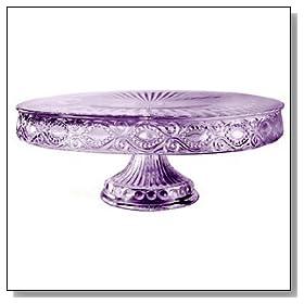Savoie Glass 11 inch Round Cake Stand
