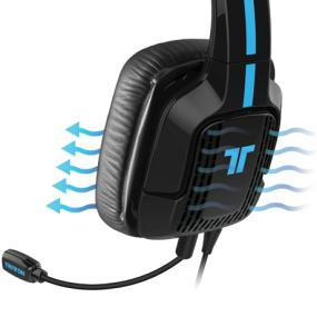 TRITTON Kaiken features a ventilated earcup to maintain distinct chat and game audio.