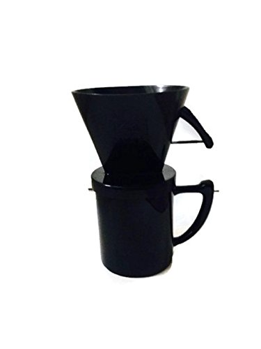 Brew One Cup of Coffee With Melitta Pour Over Cafe Euro Coffeemaker and Filters