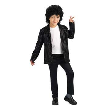 Michael Jackson Costume, Child's Deluxe Billie Jean Sequin Jacket Costume