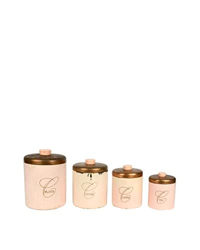 Uptown Down Found Set of 4 Metal Canisters with Lids