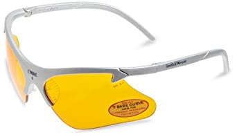 Smith & Wesson 19835 Code 4 Safety Glasses, Orange Lenses with Platinum Frame