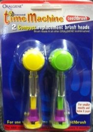 2 Pack Of Oralgiene 60 Second Time Machine Compact Replacement Brush Heads