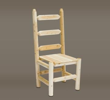 Rustic Cedar Ladder Back Chair