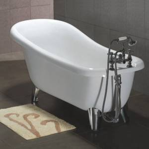 Trueshopping Slipper Style Freestanding Roll Top Bath Modern