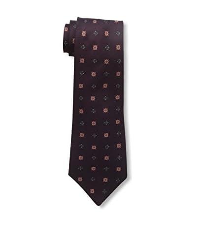 Kiton Men's Patterned Tie, Red