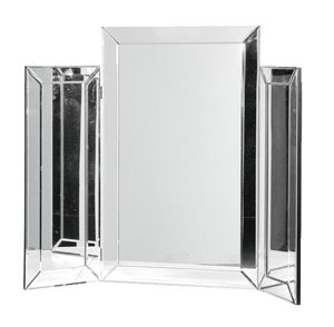 Plain Bevelled Edge Venetian Glass Triple Mirror