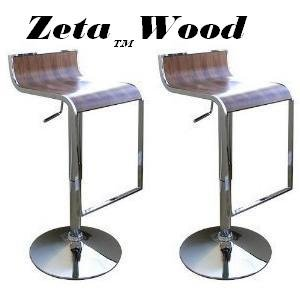 Zeta Wooden Contemporary Bar Stool - Walnut Coffee front-1049507