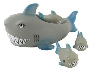 Rubber Shark Family Bathtub Pals - Floating Bath