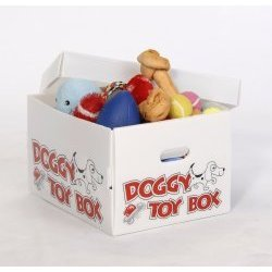 Dog Toy Storage Box (White) (10.25″H x 13.25″W x 17.75″D)