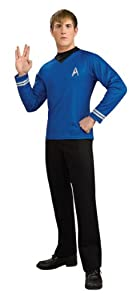 Rubie's Star Trek Deluxe Blue Shirt Fancy Dress (Small)