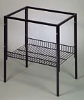 Image of T Series Tubular Metal Cage Stand - Black (B004LODKDA)