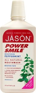 Mouthwash-Powersmile Jason Natural Cosmetics, Peppermint