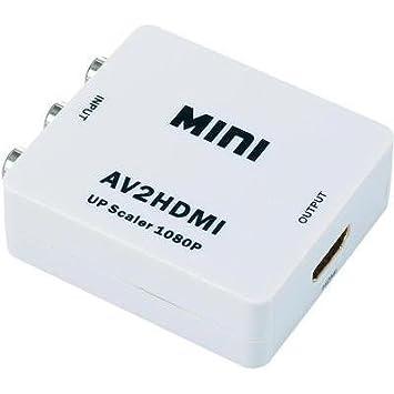 Convertisseur Cinch/RCA, HDMI SpeaKa Professional 989286 [3x Cinch / RCA femelle - 1x HDMI femelle] 0 m blanc