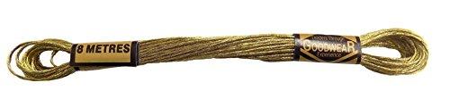 6-x-100-cotton-embroidery-thread-8-metre-skeins-metallic-gold-ge0060