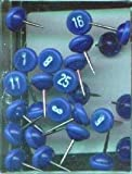 Blue Numbered Map Pins 1-100