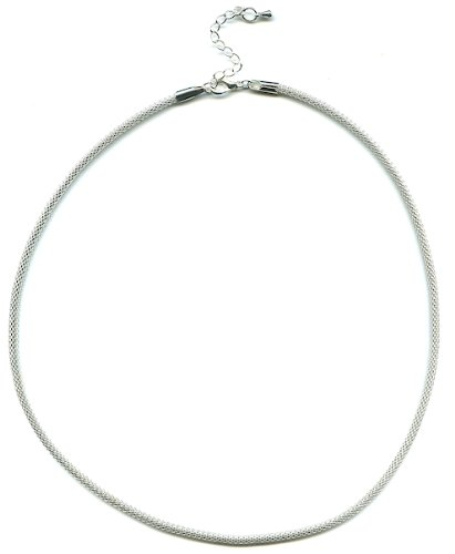 Mix And Mingle Sterling Silver Plate Rope Necklace