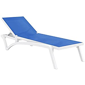 Pacific resort stackable and polypropylene for Chaise lounge construction