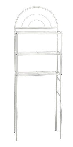 Zenith Products 2501W Freestanding Space Saver Over-The-Toilet Shelving System, White front-515535