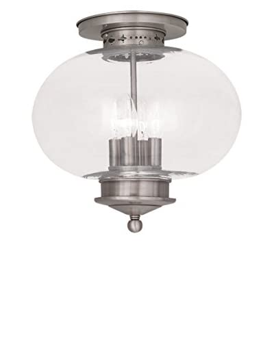 Crestwood Lucia 4-Light Ceiling Mount, Brushed Nickel