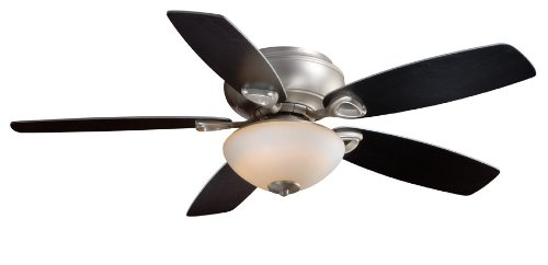 AireRyder FN52434BN 52-Inch Montreux Flushmount Ceiling Fan, Brushed Nickel