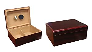 Prestige Import Group 50-75 Count Cherry Cigar Humidor