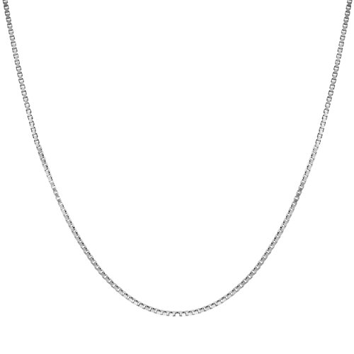 Sterling Silver 1mm Box Chain Necklace 14