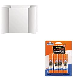 KITEPIE542GEO26790 - Value Kit - Geographics Two Cool Tri-Fold Poster Board (GEO26790) and Elmer\'s Washable All Purpose School Glue Sticks (EPIE542)