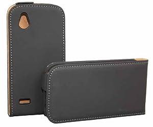 Rocina Premium Flip Case Tasche in schwarz für HTC Desire X