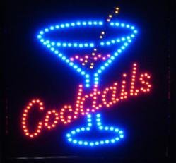 Large Cocktails Led Bar Sign