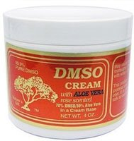 DMSO Cream with Aloe Vera Rose Scented -- 4 oz
