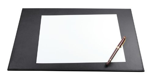 Lucrin - Desk Pad 17.5 X 10.8 Inches - Smooth Cow - Leather - Black