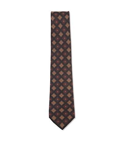 Kiton Men's Diamond Tie, Black/Brown/Tan