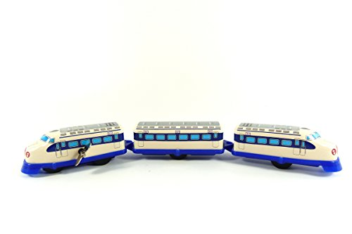 Wind up 3 Carriage Tin Toy Shinkansen Bullet Train from Japan