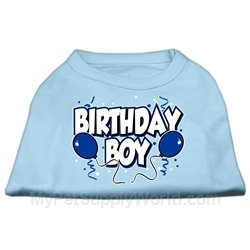 Mirage Pet Products 16-Inch Birthday Boy Screen Print Shirts, X-Large, Baby Blue front-1036033