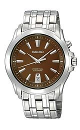Seiko Perpetual Calendar Brown Dial Men's watch #SNQ119
