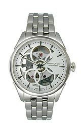 Hamilton Jazzmaster Viewmatic Automatic Skeleton Dial Stainless Steel Ladies Watch H32405111