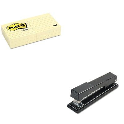 KITMMM6306PKSWI40501 - Value Kit - Post-it Original Notes (MMM6306PK) and Swingline Light-Duty Full Strip Desk Stapler (SWI40501) kitswi3747308unv10200 value kit swingline selfseal clear laminating sheets swi3747308 and universal small binder clips unv10200