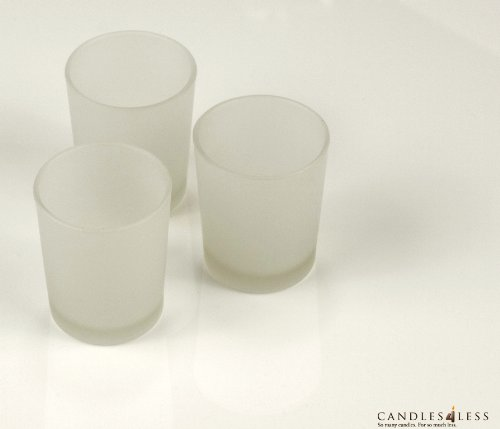 Frosted Glass Votive Candle Holders (Set of 12)