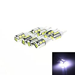 See T10 5W 240lm 10 x SMD 5630 LED White Light Car Turn Signal Corner Lamp w/ Lens - (DC 12V /8PCS) , Yellow Details