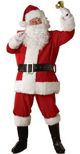 Regal Plush Santa Claus Suit Costume - X-Large