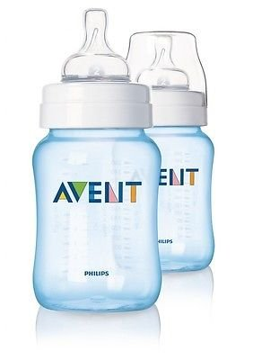Philips Avent Limited Edition Blue Baby Baby Bottles 2 Pack 260Ml New Scf685/27 Good Gift For Mom And Baby Fast Shipping Ship Worldwide