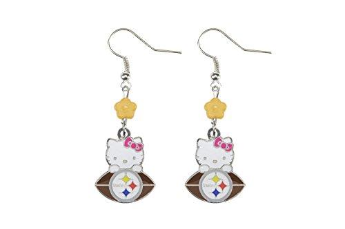 NFL-Pittsburgh-Steelers-Hello-Kitty-Sophie-Beaded-Earrings