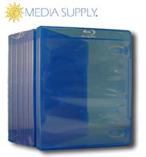 10 Empty Standard Blue Replacement Boxes / Cases For Blu-ray Disc Movies #dvbr12br (blue Ray Blue-ray Blu Ray) Picture