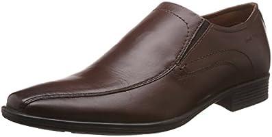 Hush Puppies Men's Boston Slip On Brown Leather Formal Shoes - 8 UK/India (42 EU)(8544839)
