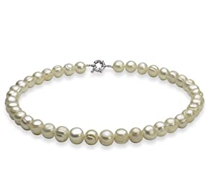 PearlsOnly White 10.0-10.5mm A Freshwater Cultured Pearl Necklace 18 inch
