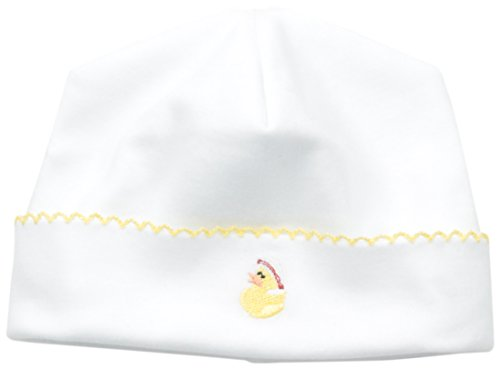 Margery Ellen Baby Unisex-Baby Newborn Embroidered Hat, White, One Size
