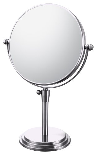 Mirror Image 81745 Classic Adjustable Vanity Mirror, 7.75-Inch Diameter, 1X And 5X Magnification, Chrome front-724133