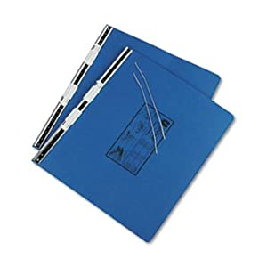 6 Pack Pressboard Hanging Data Binder, 14-7/8 x 11, Unburst Sheets, Blue by UNIVERSAL (Catalog Category: Binders & Binding Supplies / Binders)
